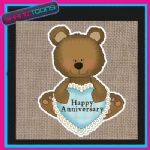 HAPPY ANNIVERSARY JUTE  SHOPPING LADIES GIFT BAG 001